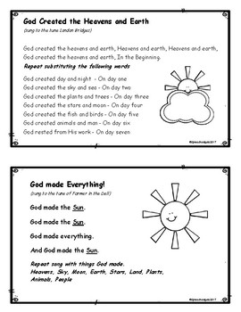 God Made the World!  Bible Time Activities for Acts 17:24 or Genesis 1:1