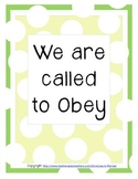 God Tests Us; He Calls Us To Obey