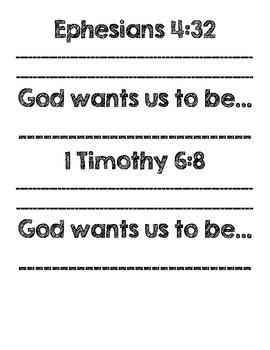 God Wants Us To Be...