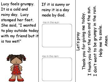 God and Me - I feel grumpy! Make a booklet - Think, talk, pray & read.