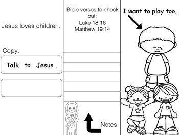Social Stories - linked to the Bible X6 Think, Talk, Pray. Homeschool