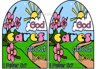 God cares about you craft kit (1 Peter 5:7)- Bible crafts for kids