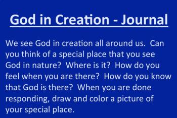 God in Creation Powerpoint & Journal