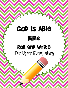 God is Able Bible Roll and Write