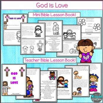 God is Love: A Biblically Integrated Activity Packet on Love  / Valentines Day