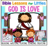 God is Love Bible Lesson Valentine's Day Activities Craft Game Worksheets