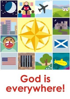 God is everywhere game (UK version)