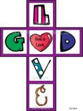 God is love Cross craft