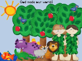 God made our world Bible story craft kit
