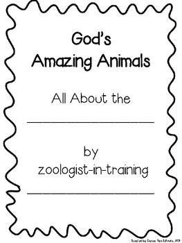 God's Amazing Animals Project