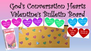God's Conversation Hearts Valentine's Day Bulletin Board