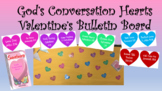 God's Conversation Hearts Valentine's Day Bulletin Board