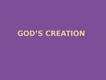 God's Creation Picture Books