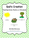 God's Creation Teaching Cards, Posters, or Storybook for Bible Learning