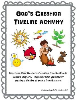 God's Creation Timeline Activity