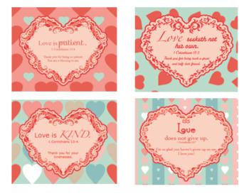 God's Love Scripture Verse Printable Cards