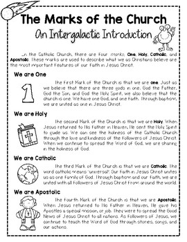 God's Love is Out of this World: Teaching the Marks of the Church