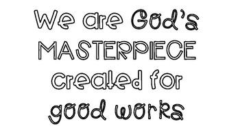 God's Masterpiece Bulletin Board