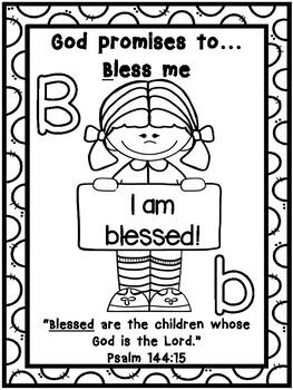 God's Promises Alphabet Color sheets