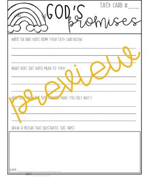 God's Promises Task Cards