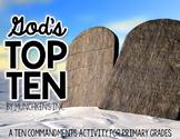 God's Top Ten {A Ten Commandments Activity for Primary Grades}