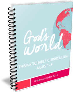 God's World: Early Learning Bible Curriculum   Toddler Pre