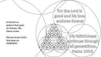 God's love is forever fractal coloring