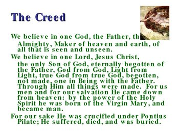 God the Father in the Nicene Creed