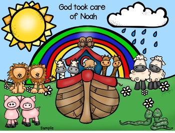 God took care of Noah- Noah's Ark Bible Craft