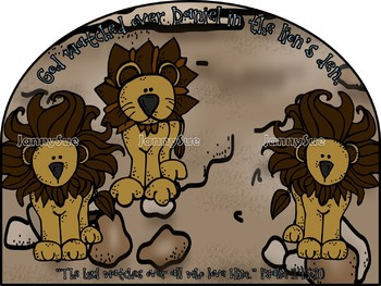 God watched over Daniel in the Lion's den Bible craft for kids