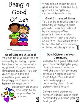 Good Citizens Mini-Book