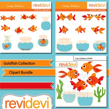 Godlfish Collection Clip art bundle (3 packs)