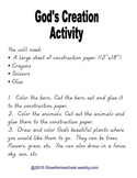 God's Creation Activity