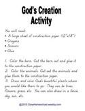 God's Creation Activity