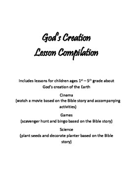God's Creation Lesson Compilation