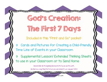 God's Creation:  The First Seven Days