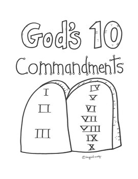 God's Ten Commandments Activity Booklet for Catholic Children