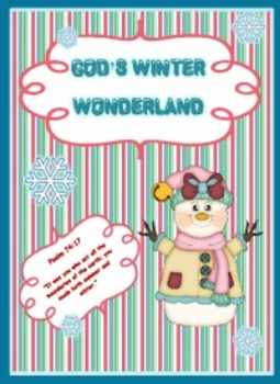 God's Winter Wonderland - Winter Literacy Printable Packet