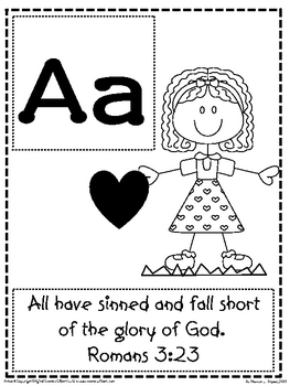 Bible Verse ABC's (God's Word Alphabet Posters and Coloring Sheets)