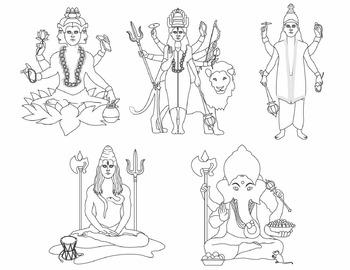 Gods of India Clip Art