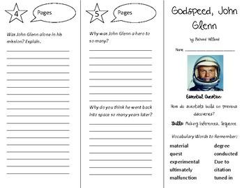 Godspeed, John Glenn Trifold - Open Court 4th Grade Unit 2 Lesson 4