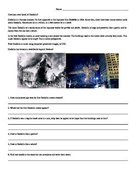 Godzilla Reading Comprhension