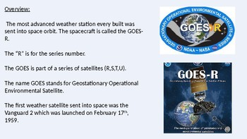Goes R - Satellite Power Point information Facts Review
