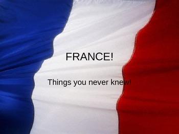 France handout Cloze exercise ppt
