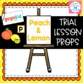 "GogoKid K2 ""Peach & Lemon"" Trial Lesson Props"