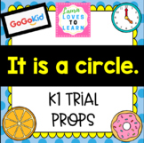 """GogoKid K1: """"It is a circle."""" Trial Lesson Props"""