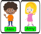 Gogokid - Alex and Amy Printable Cards