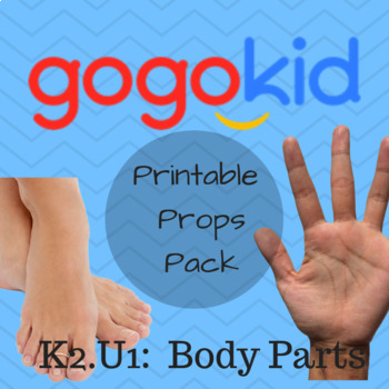 Gogokid K2-U1: Body Parts Printable Pack