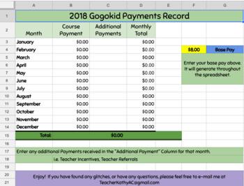 Gogokid Payment Tracker