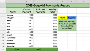 Gogokid Standby Payment Tracker